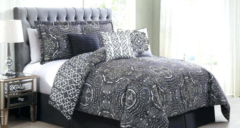 Black White Red Comforter Sets Canada Twin Food