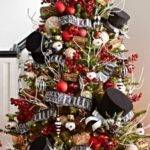 Black White Red Decorated Christmas Tree Designcorner