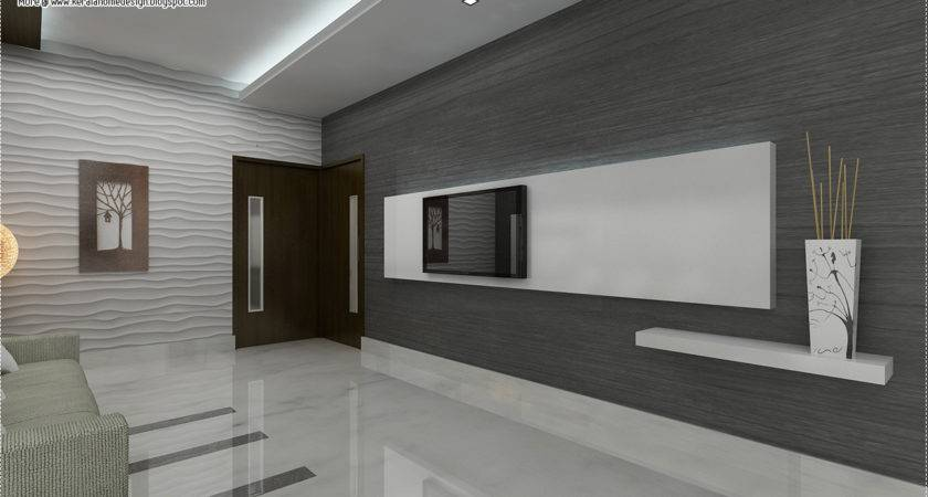 Black White Themed Interior Designs Kerala Home