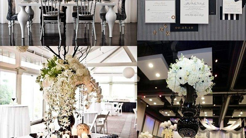 Black White Wedding Inspiration Pink Lotus Events