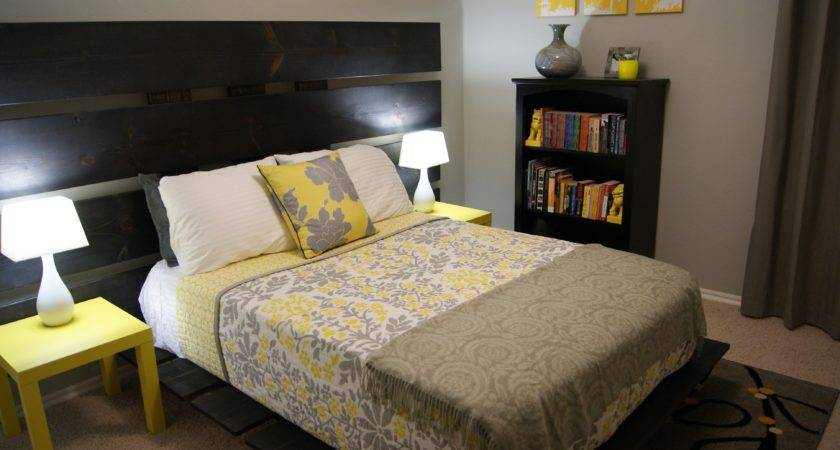 Black White Yellow Bedroom Home Design