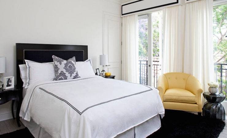 Black White Yellow Bedroom Ideas Design