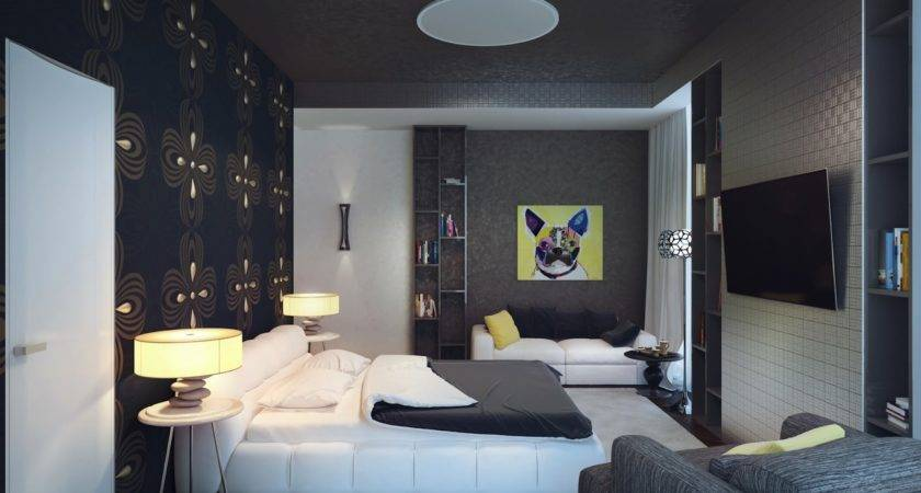 Black White Yellow Bedroom Interior Design Ideas