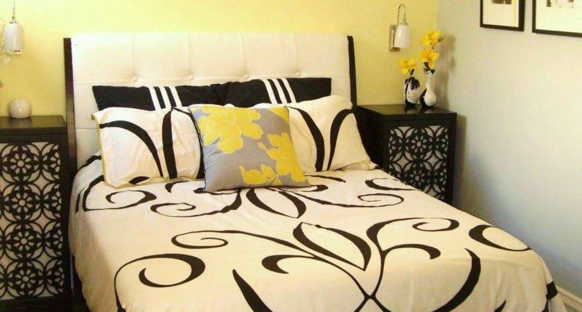Black Yellow Bedroom White