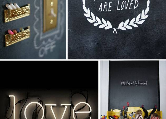 Blackboard Walls Chalkboards Kids Room Bloom