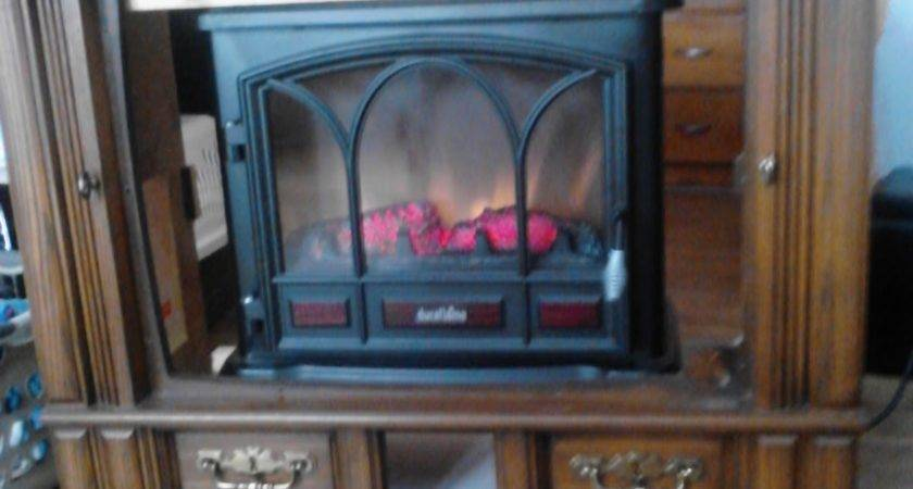 Blog Repurpose Old Console Fireplace Media Center