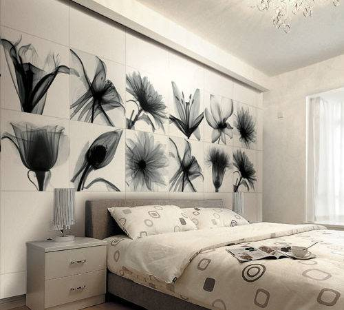 Bloom Decorative Tiles Featuring Black White