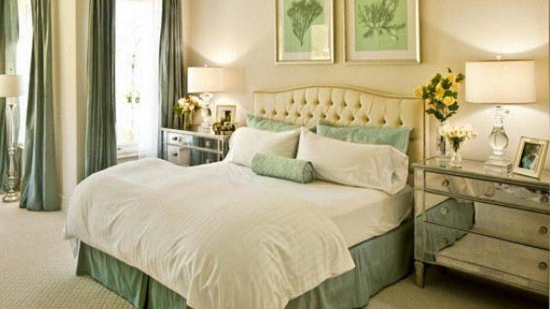 Bloombety Beige Mint Green Paint Color Bedroom
