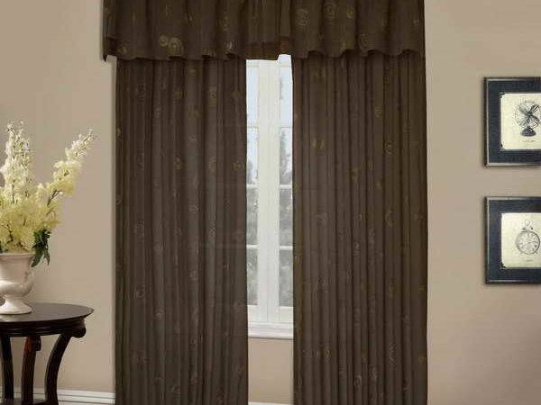 Bloombety Cafe Curtain Rods Beige Walls