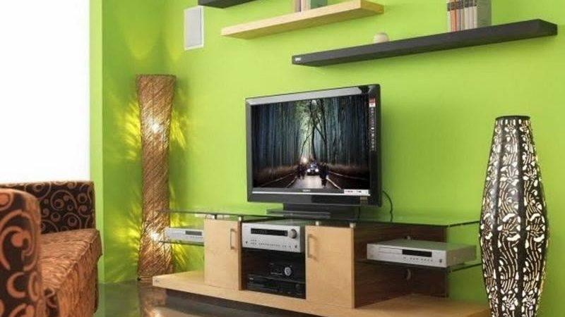 Bloombety Interior Design Living Room Green Paint