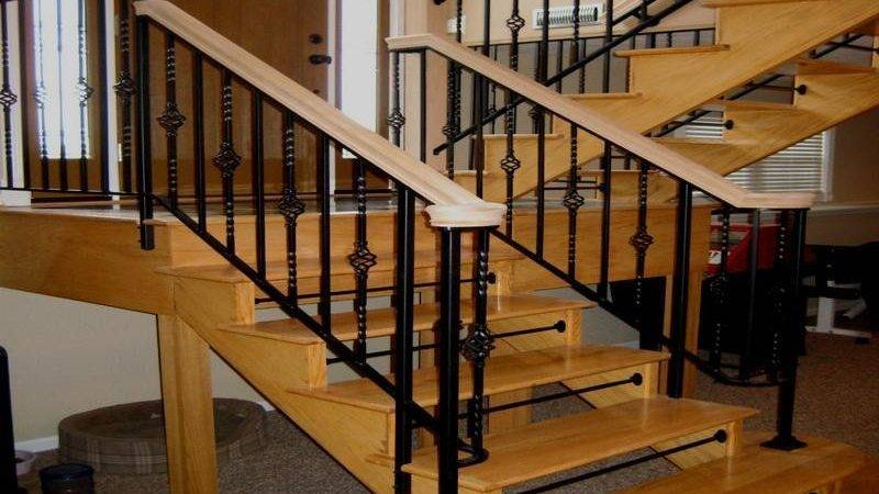 Bloombety Nice Black Stair Railing Design