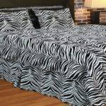 Bloombety Wild Zebra Print Decor Bedroom