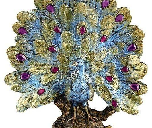 Blooming Decorative Peacock Traditional