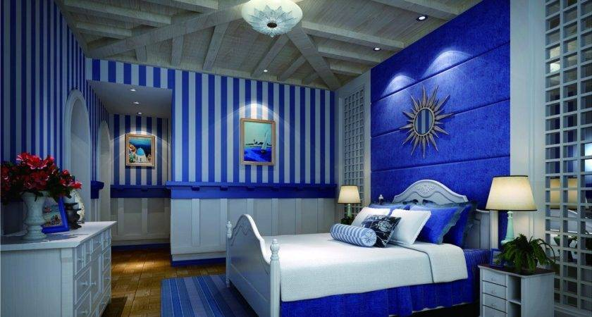 Blue Bedroom Interior Design Neoclassical House