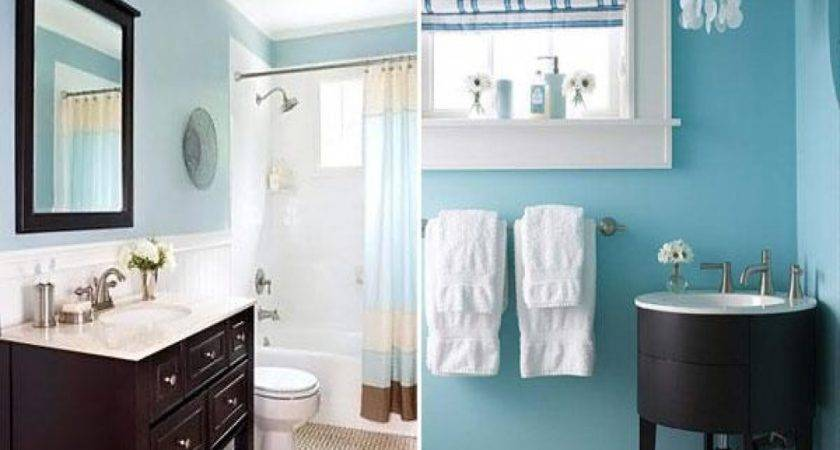 Blue Brown Bathroom Color