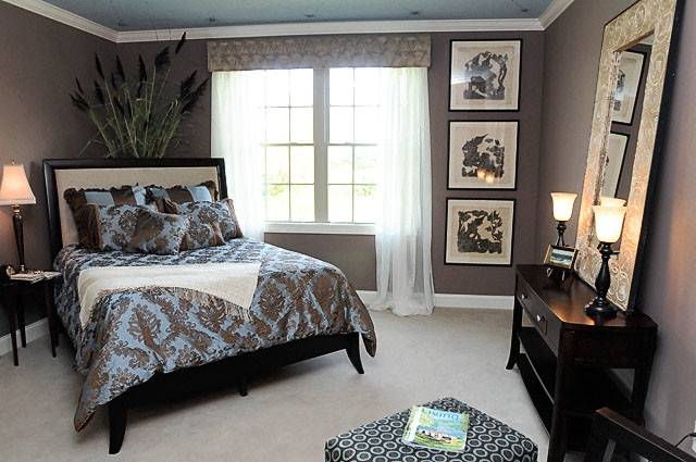 Blue Brown Bedroom Color Scheme Home Decor House