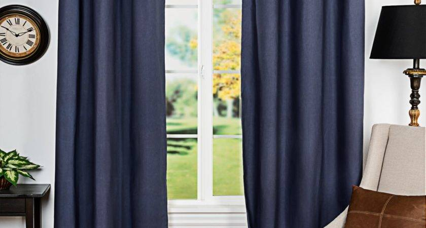 Blue Brown Living Room Curtains Modern House