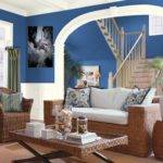 Blue Brown Living Room Decor Design Bookmark