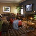 Blue Brown Living Room Home Design Ideas