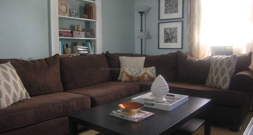 Blue Brown Living Room Ideas Modern House