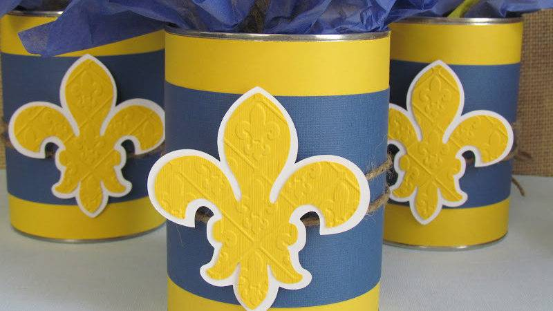 Blue Gold Centerpieces Poppers Made Boys