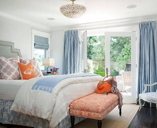 Blue Gray Bedroom Cottage Bhg
