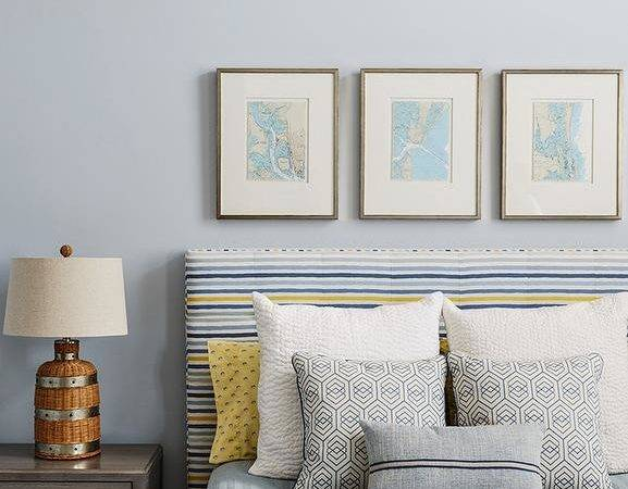 Blue Gray Cottage Boy Bedroom Silver Paint