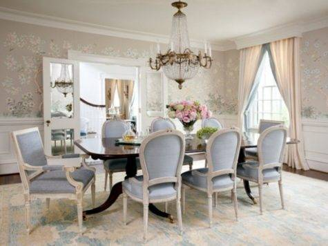 Blue Gray Dining Room Ideas Elegant