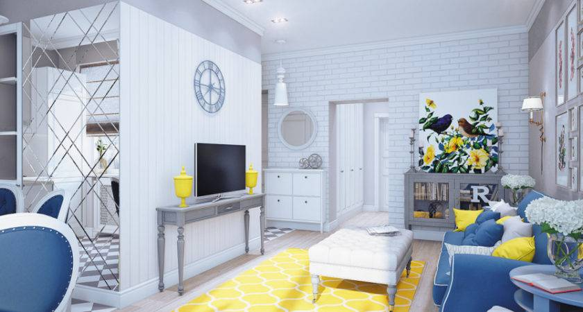 Blue Gray Yellow Living Room Decor Pics Home