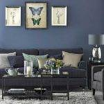 Blue Grey Living Room Ideas Glass Top Coffee