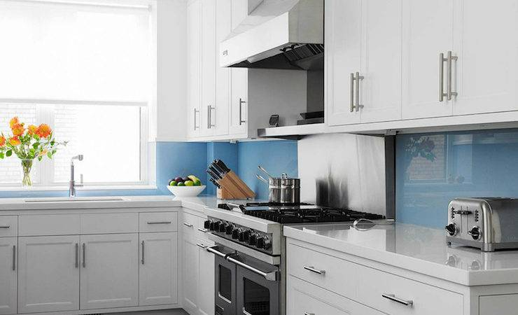 Blue Kitchen Backsplash Contemporary John
