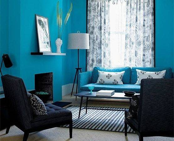 Blue Living Room Design Kitchen Layout Decor Ideas