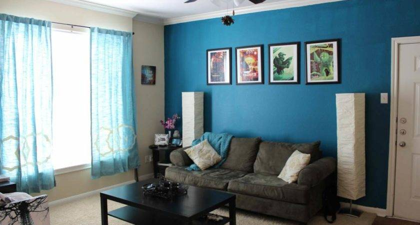 Blue Living Room Paint Ideas Dark Grey Sofa Black