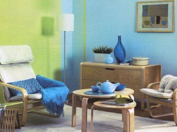 Blue Paint Color Home Furnishings Matching Colors