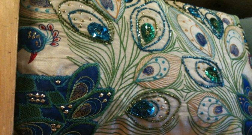 Blue Peacock Pillow Great Home Decor Style