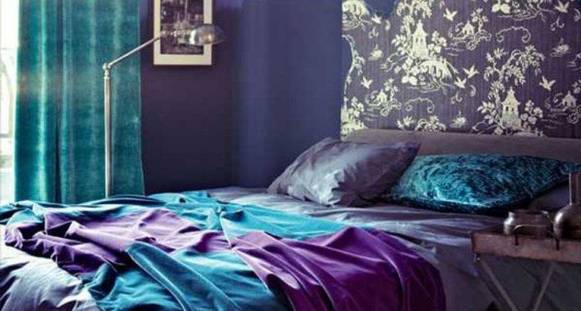 Blue Purple Bedroom Decorate House