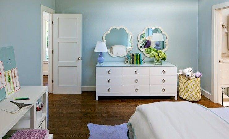 Blue Purple Girl Room Contemporary