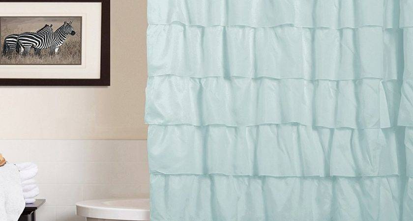 Blue Ruffle Shower Curtain Zulily