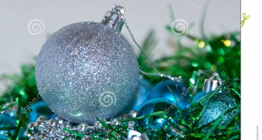 Blue Silver Christmas Decorations