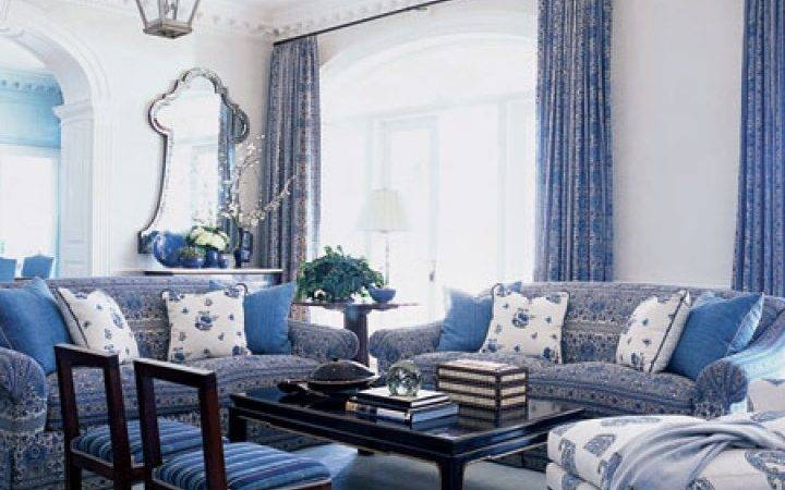 Blue White Living Room Design
