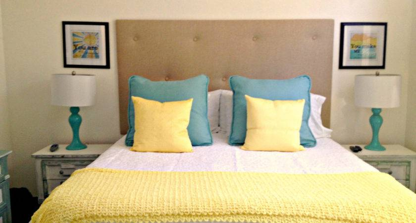 Blue Yellow Bedroom Decor Small Makeover