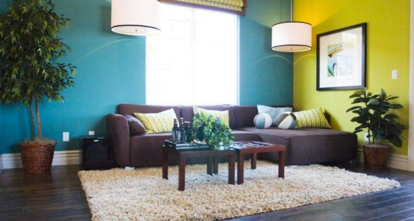 Blue Yellow Color Scheme Living Room
