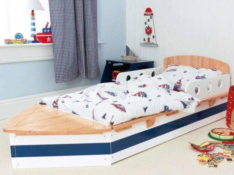 Boat Toddler Bed Shaped Fascinating