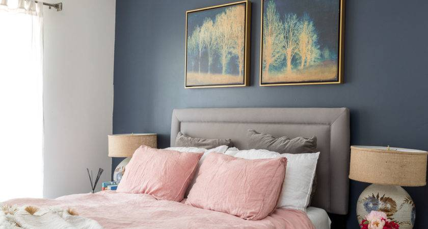Boho Chic Navy Pink Bedroom Vintage Splendor Home