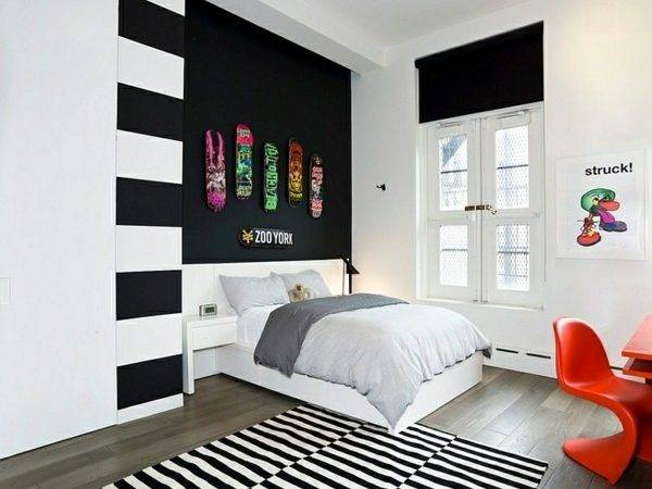 Bold Bedroom Color Ideas Black White Accents