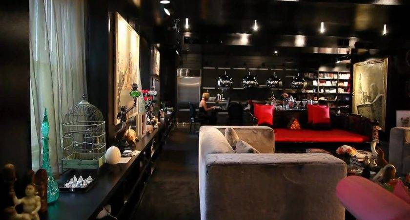 Bold Color Small Space Black Apartment Youtube
