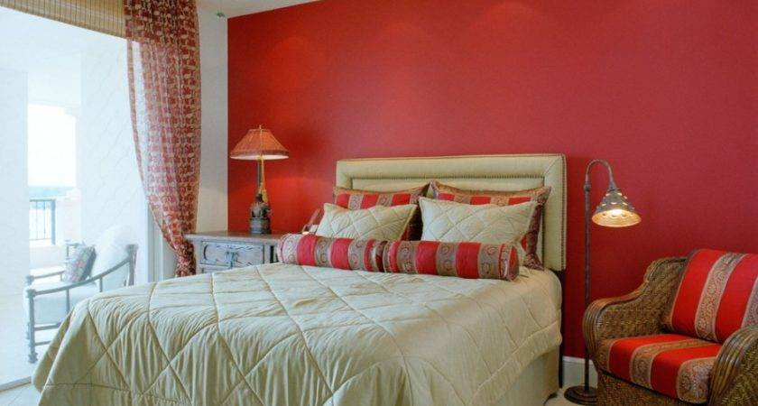 Bold Red Bedroom Interior Design Feature Accent Walls