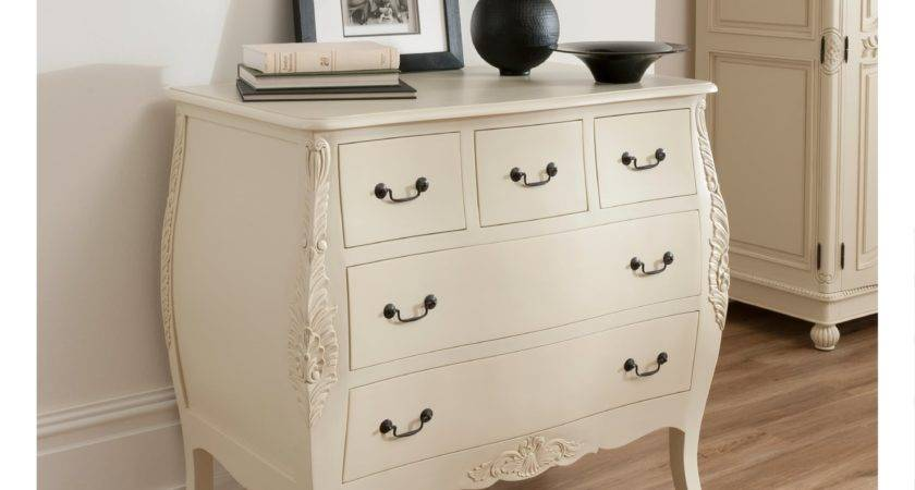 Bordeaux Shabby Chic Style Chest Drawers