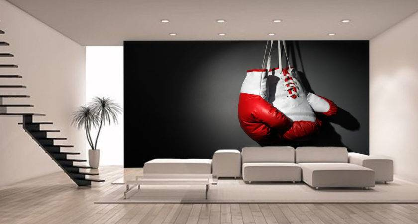 Boxing Gloves Wall Mural Giant Decor Paper
