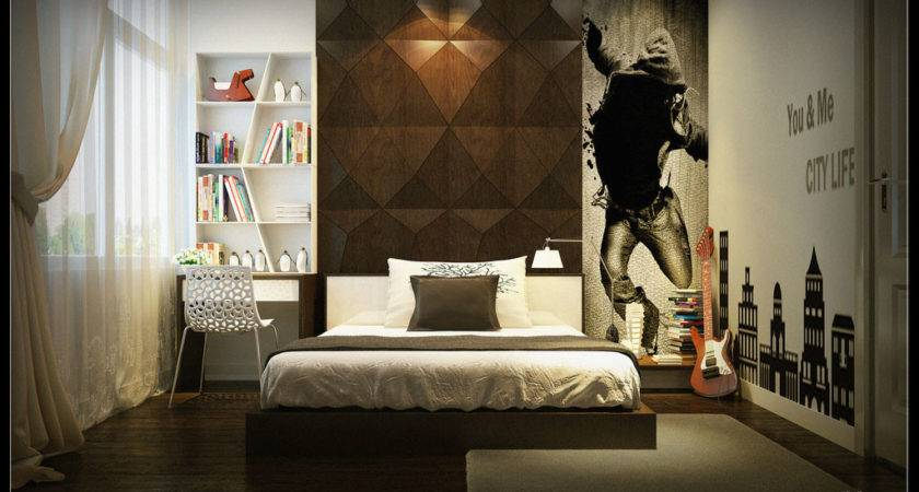 Boys Bedroom Black Wall Art Decor Ideas Interior